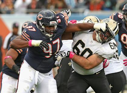 Landon Cohen played 13 games for the Chicago Bears in 2013. (Getty Images)