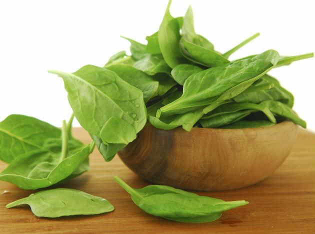 <b>Spinach </b>Perhaps popularized by Popeye the Sailor Man, this green leafy vegetable is super-rich in nutritious value and a fantastic source of Vitamins A, C, E and K. It is also rich in iron, magnesium, protein and calcium, making it a powerhouse of healthy elements.