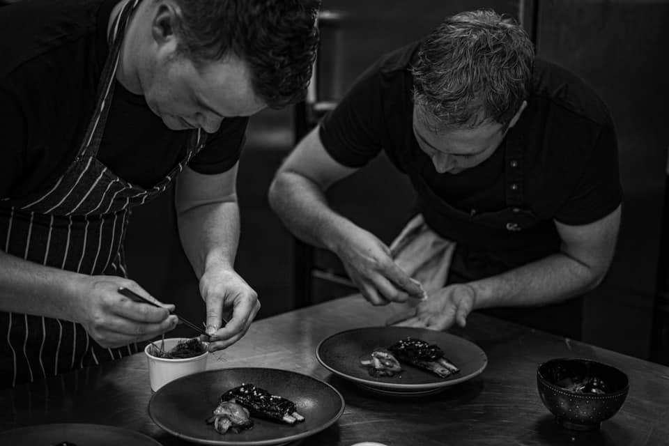 <p>Will Murray and Jack Croft enthuse over the finishing touches</p> (Fallow)