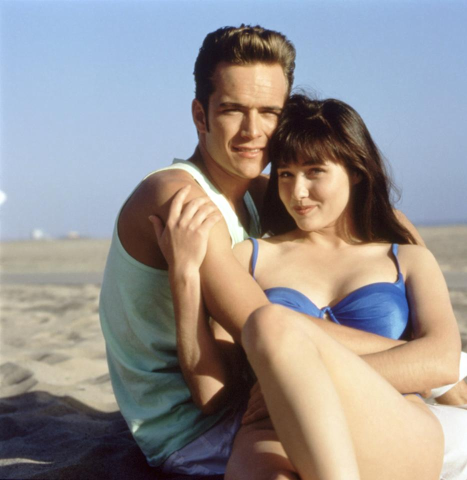 <p>Turn your guy into the <strong>Beverly Hills 90210</strong> bad boy with a pastel tank, Ray-Ban sunglasses, and a leather jacket for good measure.</p>
