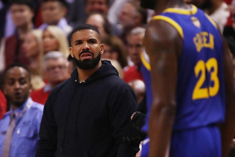 The Golden State Warriors got the best of the Toronto Raptors - and Drake - during Game 2 of the NBA Finals. (Photo by Gregory Shamus/Getty Images)