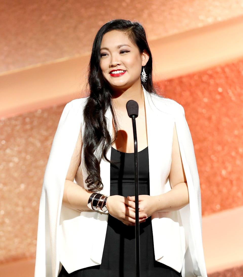 MARINA DEL REY, CA - NOVEMBER 19:  Honoree Amanda Nguyen speaks onstage during the Marie Claire Young Women's Honors presented by Clinique at Marina del Rey Marriott on November 19, 2016 in Marina del Rey, California.  (Photo by Rich Polk/Getty Images for Young Women's Honors )