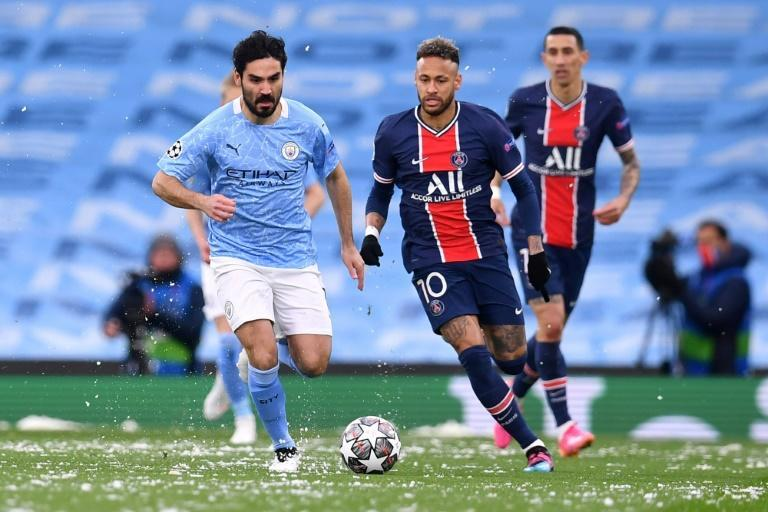 Manchester City's top scorer this season Ilkay Gundogan (left)will be fit for the Champions League final