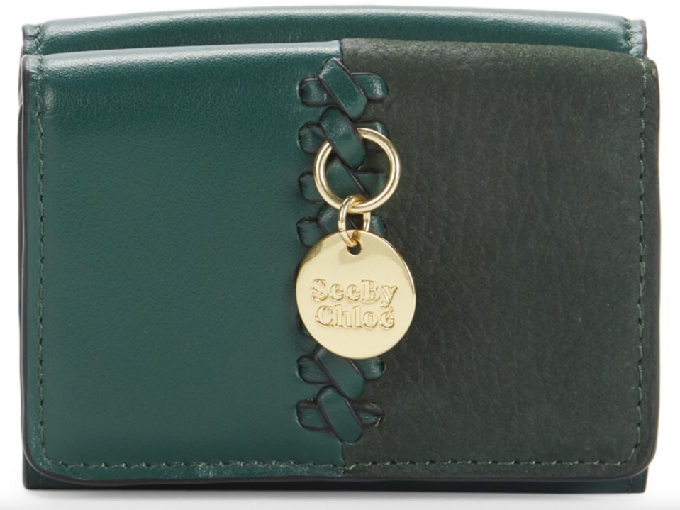 See by Chloé 'Tilda' Leather Coin Purse in Marble Green (Photo via Saks Off Fifth)