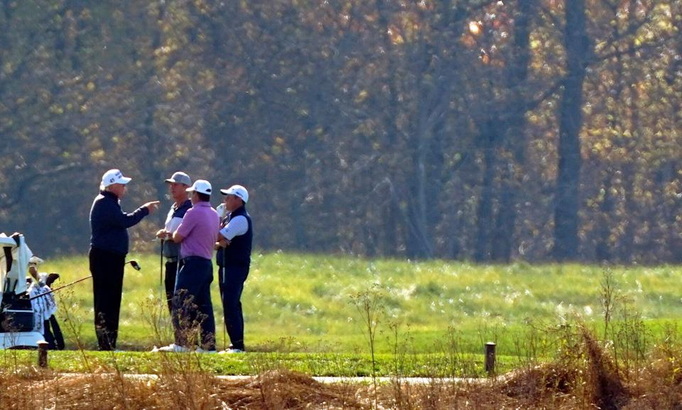 Donald Trump was golfing in Virginia when media outlets declared the election for Biden. (Photo: Patrick Semansky/Associated Press)