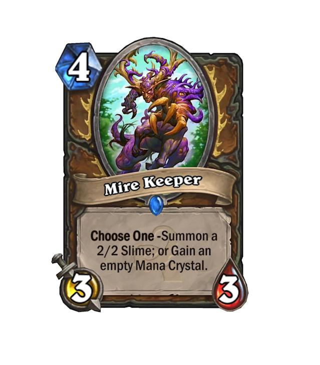 <p>Ramp druid already has a ton of tools, but another one can't hurt. Mire Keeper is value whether you're looking to establish board control right this second or playing the long game. Nifty!</p>