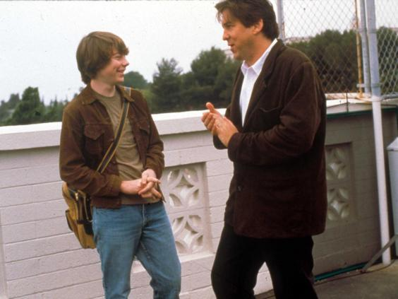 Patrick Fugit speaks to Cameron Crowe on the set of 'Almost Famous', 2000 (Rex)