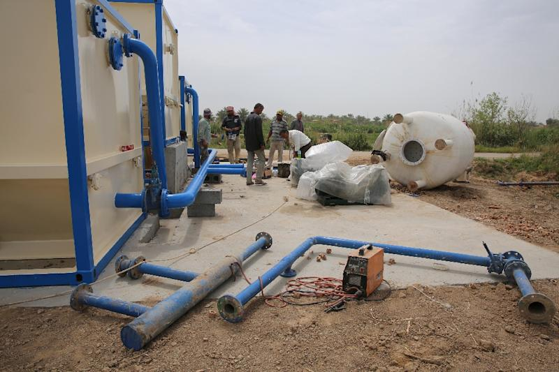 Roughly 70 percent of Iraq's water originates from its neighbours, according to the International Energy Agency (AFP Photo/SABAH ARAR)