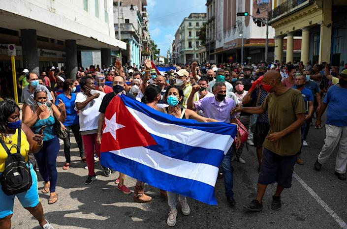 Image: Cuba demonstration (Yamil Lage / AFP - Getty Images)