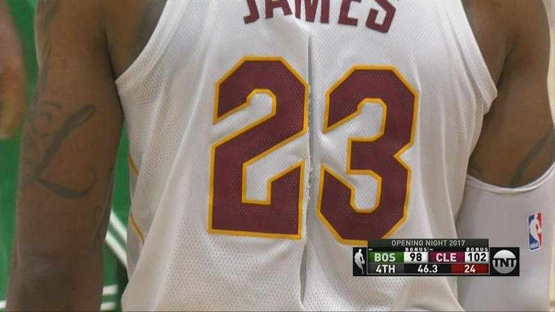 LeBron James new Nike jersey didnt even make it through his first game.