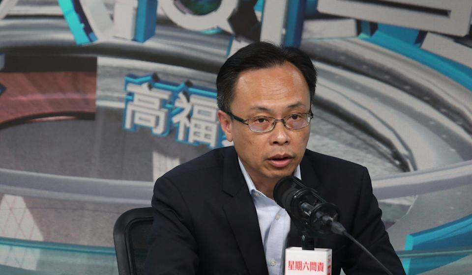 Secretary for Constitutional and Mainland Affairs Patrick Nip on a radio programme. Photo: Xiaomei Chen