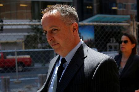 FILE PHOTO: Pharmacist Barry Cadden, co-founder of the now-defunct New England Compounding Center, arrives to be sentenced after being convicted for racketeering and fraud for his role in a 2012 meningitis outbreak that killed 64 people across the United States, in Boston, Massachusetts, U.S., June 26, 2017.   REUTERS/Brian Snyder/File Photo