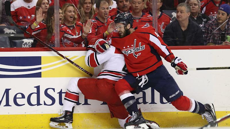 NHL playoffs 2019: Tom Wilson delivers questionable hit in Capitals' Game 5 blowout win