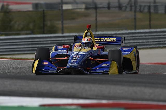 Rossi, Kanaan involved in first IndyCar Austin test