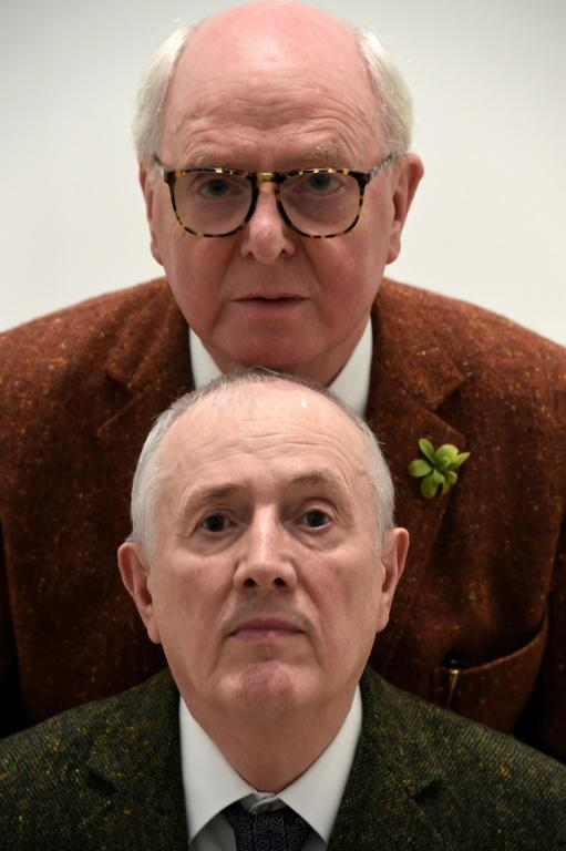 Artists Gilbert & George (Gilbert Prousch and George Passmore) are among the artists exhibiting (AFP/STEPHANE DE SAKUTIN)