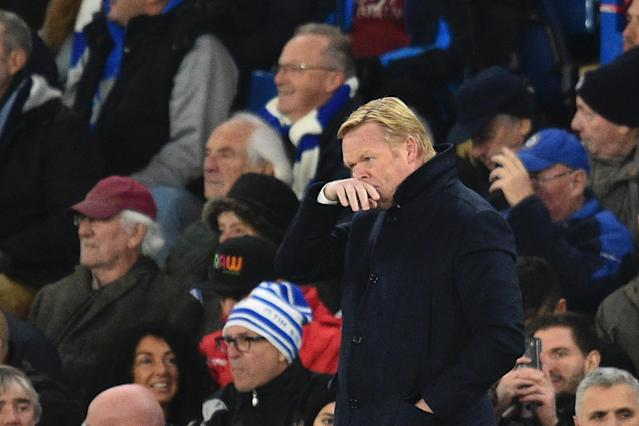 Title challenge: Koeman says the title race is on: AFP/Getty Images