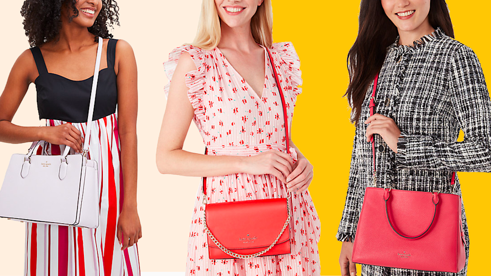 Need a new purse? It's your lucky day! Right now you can save up to 75% on Kate Spade totes, handbags, crossbody bags and more.