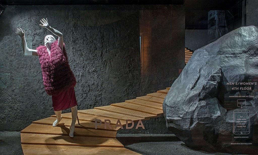Barneys New York window display in Midtown Manhattan, August 2014. Photo courtesy of Getty Images.