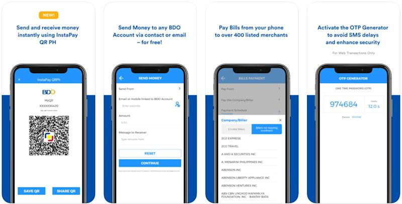 mobile banking apps - bdo mobile banking