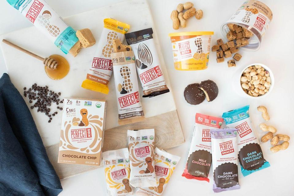 "<p>Perfect Snacks launched with only its namesake Perfect Bar. Then, 12 years after its founding, the company introduced Perfect Kids, a smaller, kid-friendly version of the bars; Perfect Bites, portable containers filled with bite-size pieces of the bars; and Peanut Butter Cups, a better-for-you alternative to the classic candy.</p><p><a class=""link rapid-noclick-resp"" href=""https://www.amazon.com/Perfect-Snacks-Refrigerated-Peanut-Variety/dp/B08571KGVC?ref_=ast_sto_dp&tag=syn-yahoo-20&ascsubtag=%5Bartid%7C1782.g.33393030%5Bsrc%7Cyahoo-us"" rel=""nofollow noopener"" target=""_blank"" data-ylk=""slk:BUY NOW"">BUY NOW</a></p>"