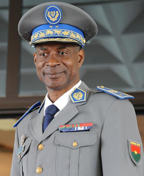 The assets of General Gilbert Diendere, pictured September 23, 2015 at Ouagadougou International airport, have been frozen by Burkina Faso authorities after he lead a failed coup attempt (AFP Photo/Ahmed Ouoba)