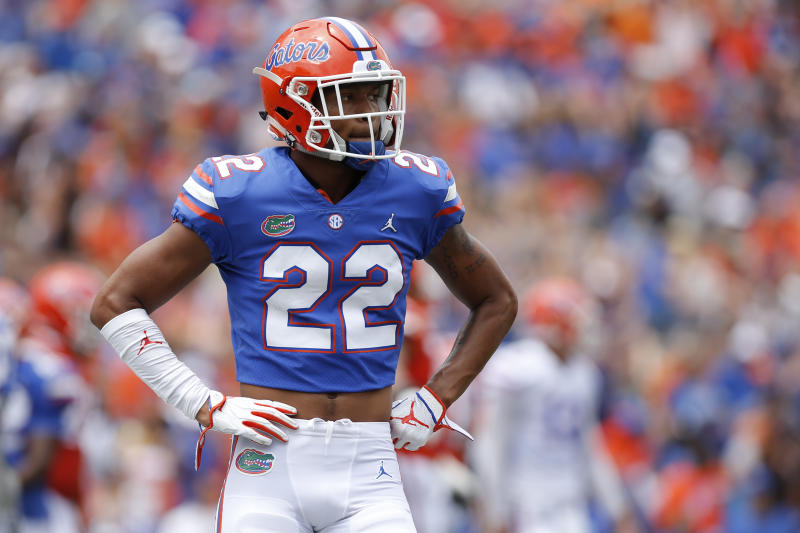 GAINESVILLE, FL - APRIL 13: Florida Gators defensive back Chris Steele (22) during the Orange & Blue Game presented by Sunniland on April 13, 2019 at Ben Hill Griffin Stadium at Florida Field in Gainesville, Fl. (Photo by David Rosenblum/Icon Sportswire via Getty Images)