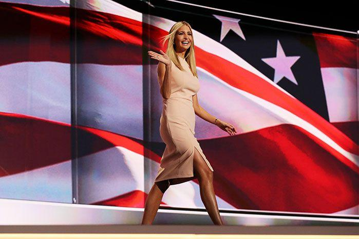 Ivanka Trump will continue her role in her father's business empire, he has said. Image: Getty