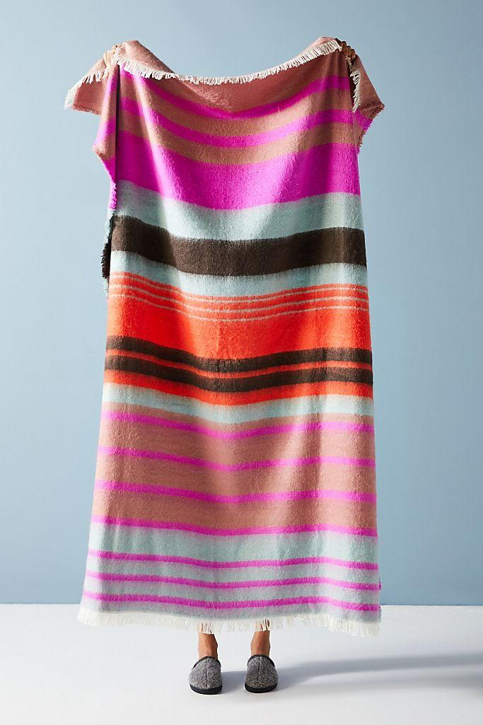 Bright Stripe Throw Blanket - on sale for Black Friday at Anthropologie $56 (originally $78).