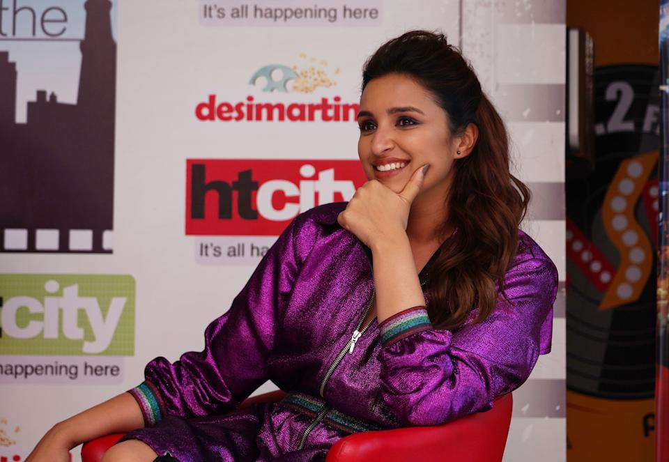 NEW DELHI, INDIA - MARCH 19: Bollywood actor Parineeti Chopra during an interview for the promotion of her upcoming movie Kesari on March 19 2019 in New Delhi, India. (Photo by Gokul VS/Hindustan Times via Getty Images)