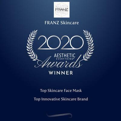 """Franz Skincare USA Announces Second Consecutive Win of """"Top Skincare Face Mask"""" in the 2020 Aesthetic Everything® Aesthetic and Cosmetic Medicine Awards Featuring the Saint 21 Microcurrent Dual Facial Mask using TissueX™"""