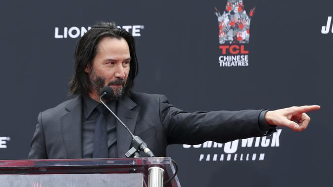 Keanu Reeves. (Photo by Willy Sanjuan/Invision/AP)