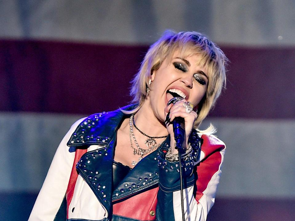 Miley Cyrus performing earlier this year (Getty Images for dick clark prod)