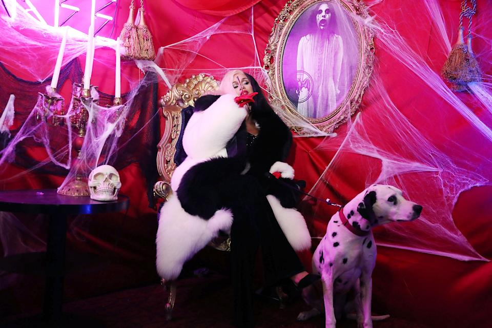 Cardi B attends Dress To Be Free Halloween Party at House Of Yes
