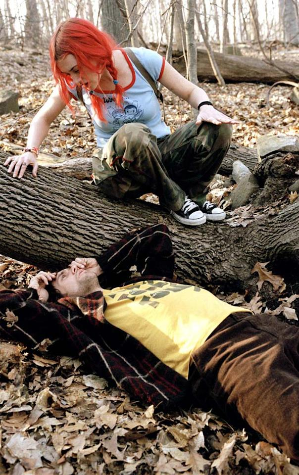 """24. <a href=""""http://movies.yahoo.com/movie/1808457310/info"""">ETERNAL SUNSHINE OF THE SPOTLESS MIND </a>   The science fiction element of the story -- a medical procedure that can selectively erase memories from your brain -- is really just a device to explore heartache in this touching, Oscar-winning drama."""