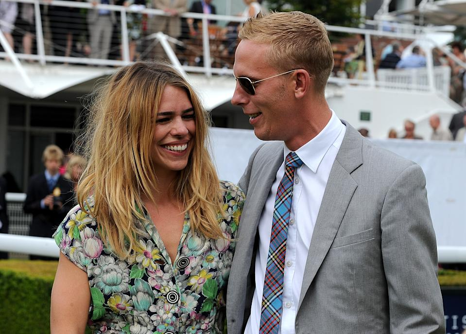 Billie Piper with husband Laurence Fox during Glorious Totesport Mile Day