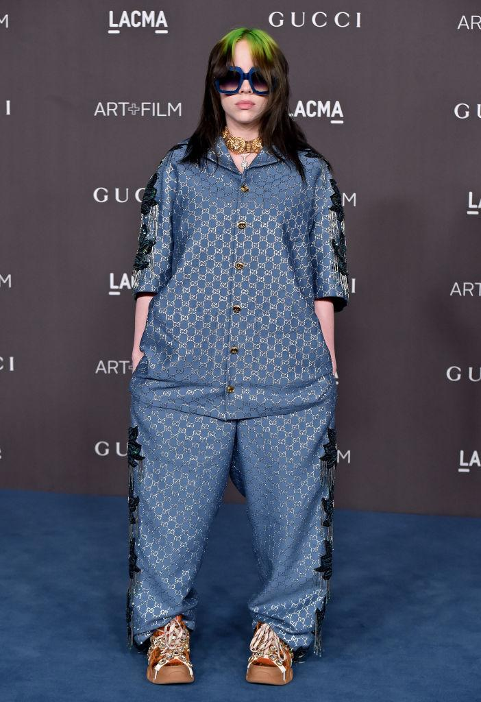 """Billie Eilish has said she prefers to wear baggy clothes to avoid being """"sexualized."""" (Photo by Axelle/Bauer-Griffin/FilmMagic)"""