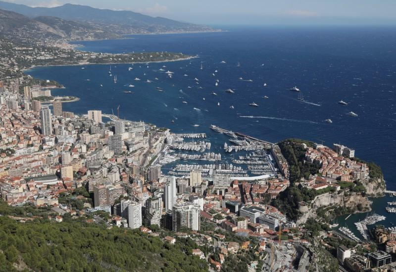 FILE PHOTO: General view shows Monaco Principality during Monaco Yacht Show