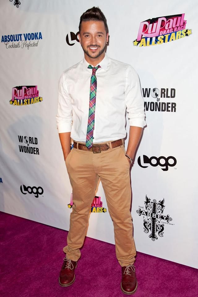 "Jai Rodriguez arrives at the ""RuPaul's Drag Race: All Stars"" Premiere Party at The Abbey on October 16, 2012 in West Hollywood, California."