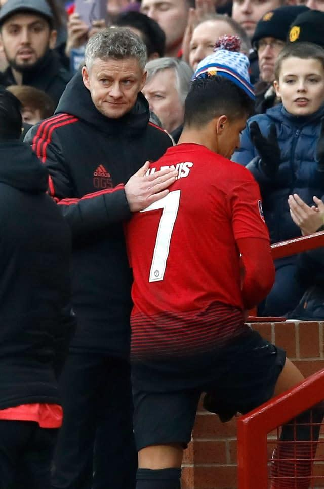 Sanchez (right) failed to find a role under manager Ole Gunnar Solskjaer (Martin Rickett/PA)