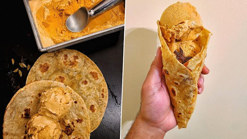 Masala Chai Ice Cream With Sugar-Laced Paratha, Anyone? Twitterati Divided Over Weird Food Combination! (See Pics)