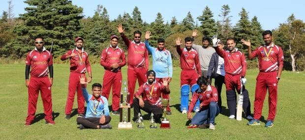 The summer cricket league Avengers are pictured after their fifth championship win in six seasons.