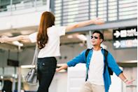 """<p>""""My boyfriend travels more often than I do. When he flies home, I always park and meet him at the gate. It's a small gesture, but in today's day and age of convenience and fast pace, I like making sure he has a warm, loving welcome."""" –<em>Erin</em> </p>"""