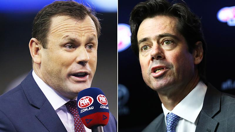 Former AFL player David King has praised the decision of the AFL and CEO Gillon McLachlan to proceed with round one of the 2020 season on Thursday night. Pictures: Getty Images