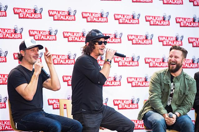 Andrew Lincoln and Norman Reedus at a Walker Stalker Convention (Photo: Lorne Thomson/Getty Images)