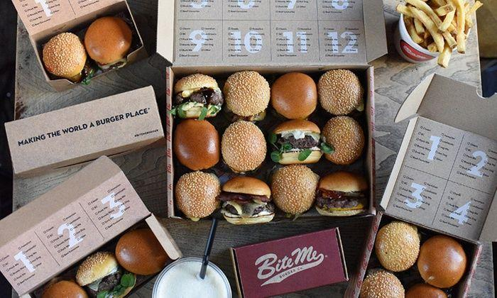 """<p>What's better than a burger? 24 little burgers in all sorts of interesting flavours, of course. </p><p>Bite Me Burger delivers selections of 12 or 24 sliders to your door and has an array of options to choose from: there's the Bloody Mary burger, a duck option (aptly named 'Duck Me') and  a tender lamb version, as well as a vegan or chicken option, too. </p><p>They're incredibly tender, beautifully cooked and are bursting with fresh, high-quality ingredients. </p><p>Add a side of fries and a couple of sugar-laden Freakshakes and you've got yourself a party. </p><p><a class=""""body-btn-link"""" href=""""https://bitemeburger.com/"""" target=""""_blank"""">SHOP HERE</a> </p>"""