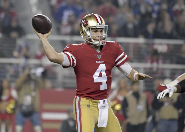 Nick Mullens is taking his chance with Jimmy Garopollo ruled out for the year