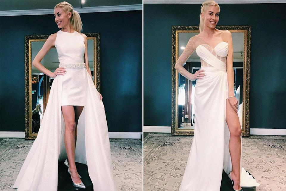Heather Rae Young Shops for Wedding Rehearsal Dress — and Lets Fiancé Tarek El Moussa Pick!