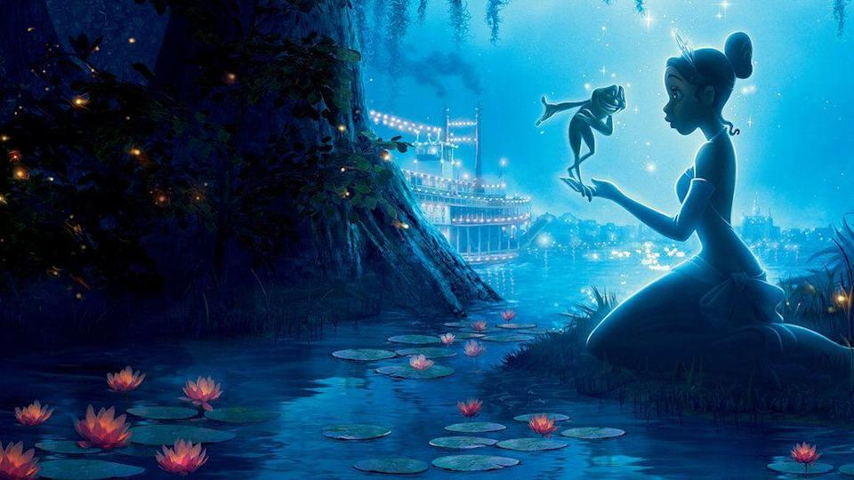 """<p>In a twist on the old fairy tale, instead of turning a frog into a prince, Tiana gets transformed into a frog, and must go on an adventure to get into her proper form again. The whole thing takes place against the backdrop of New Orleans during the Jazz Age.</p><p><a class=""""link rapid-noclick-resp"""" href=""""https://www.netflix.com/title/70109429"""" rel=""""nofollow noopener"""" target=""""_blank"""" data-ylk=""""slk:STREAM NOW"""">STREAM NOW</a></p>"""