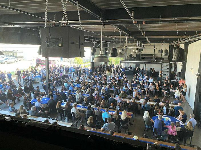 A view of the celebration of life for Ara Zobayan in Fullerton, California, in February. (Courtesy of Rob Sims)
