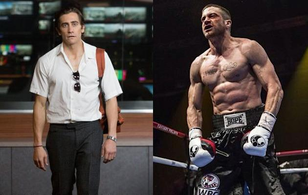<p>The 33-year-old actor lost 15kg off his lean frame for 'Nightcrawlers', only to turn around for his next movie and have to stack on 7kg of pure muscle to play a hardcore boxer in 'Southpaw'. Jake definitely nailed it.</p>